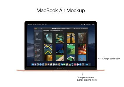 Мокап  MacBook Air