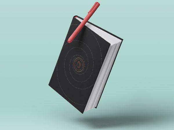 Мокап гравитационной книги