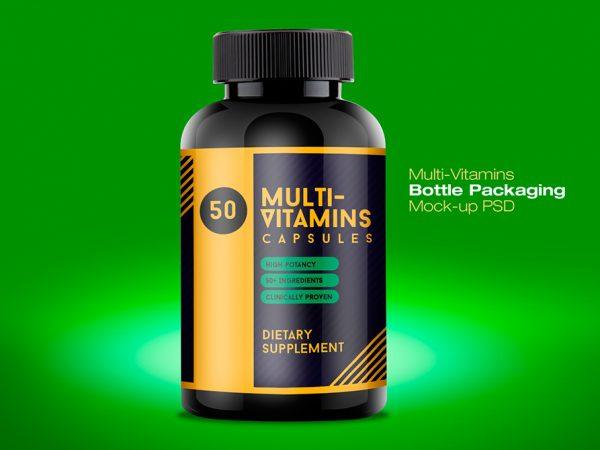Мокап витаминной бутылки