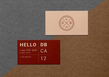 Мокап винтажной визитки