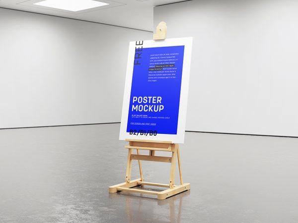 Мокап мольберт