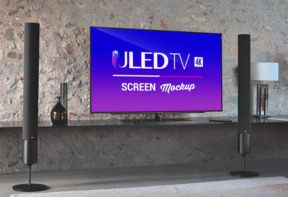 Мокап 55-дюймовый 4K Smart LED TV