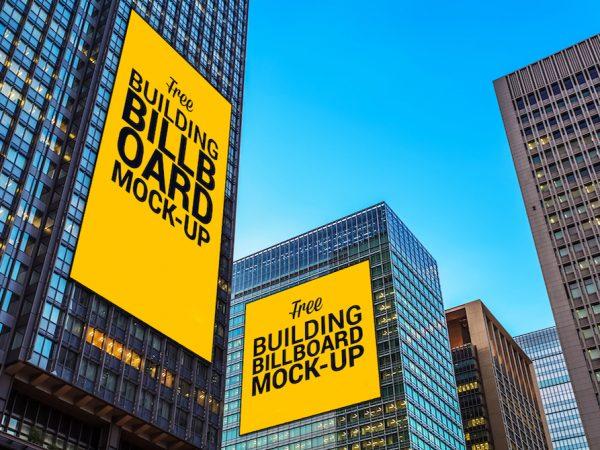Мокап наружной рекламы здания