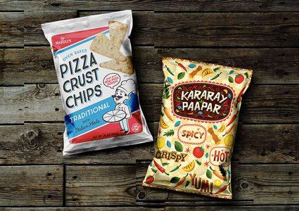 Мокап пакетов чипсов
