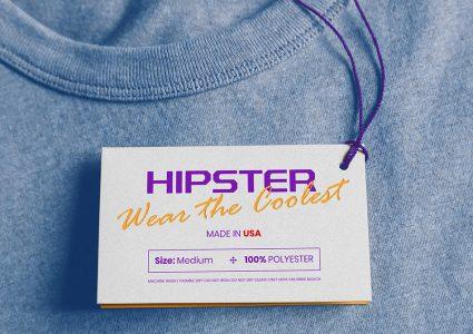 Мокап бирки для одежды