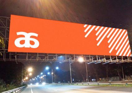 Мокап рекламы на дороге