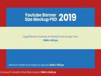 Мокап баннера YouTube