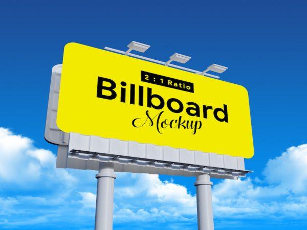 Мокап рекламного щита