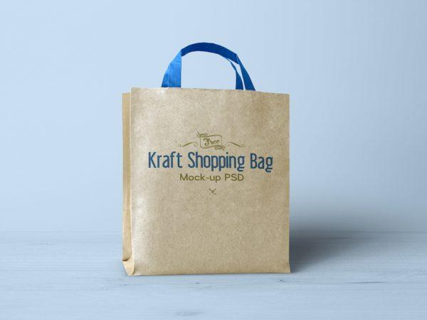Мокап крафт сумки