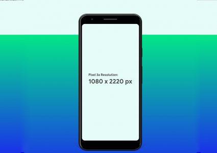 Мокап Google Pixel 3a & Pixel 3a XL