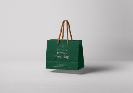 Мокап сумки для украшений