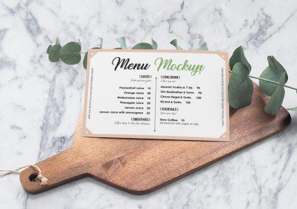 Мокап меню