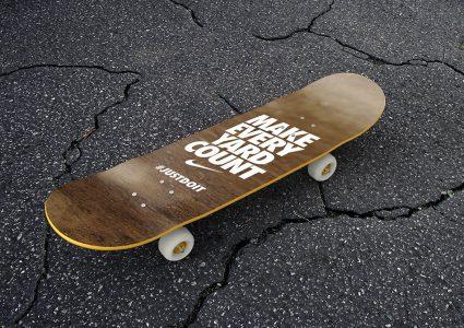 Мокап скейтборда
